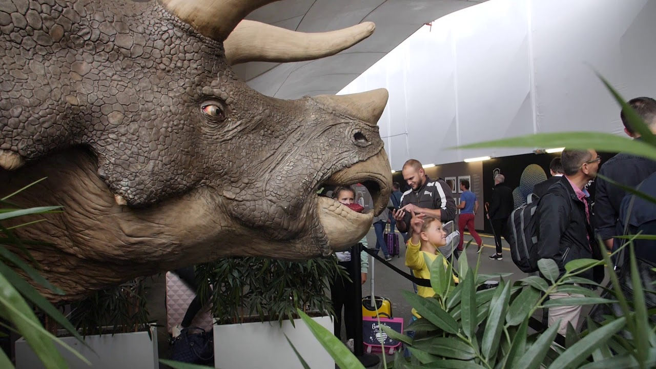 3-Meter Tall Triceratops 3D Printed by METROPOLE Stops Commuters in their Path