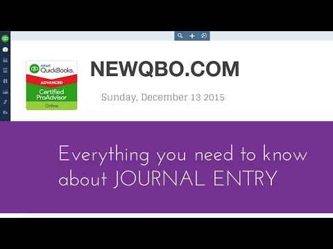 QuickBooks Online QuickBooks Desktop Tutorial - Journal Entry Debit Credit Accounting