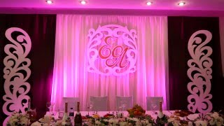 Светодиодная подсветка свадебной стенки 3 (Плавное смещение цветов)