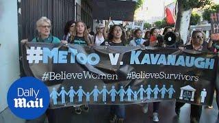 Demonstrators march in LA ahead of Senate's Kavanaugh vote