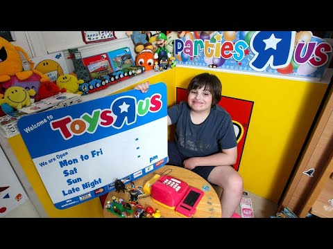 Boy With Autism Creates Toys R Us At Home With Signs From Closed Store
