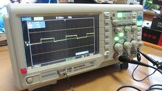 Современный осциллограф  Gratten GA1102CAL 100HMz  краткий обзор