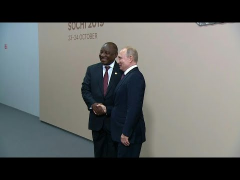 Vladimir Putin meets with Cyril Ramaphosa at Russia-Africa summit | AFP