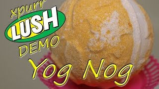 LUSH Cosmetics YOG NOG Bath Bomb DEMO + Underwater View Christmas 2015 Review