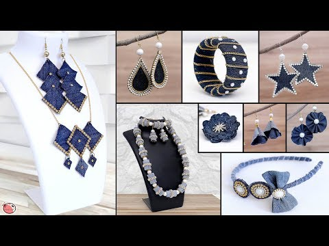 9 Old Jeans Jewelry Idea !!! Old Clothes Reuse