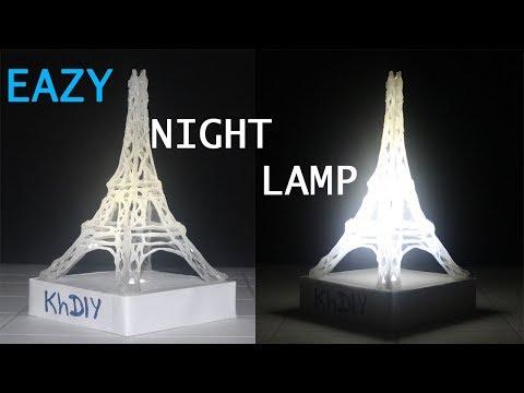 DIY Amazing Glue Stick Lamp/lantern (Eiffel tower light)