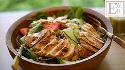 Strawberry Spinach Salad with Grilled Chicken and Orange Poppy Seed Dressing