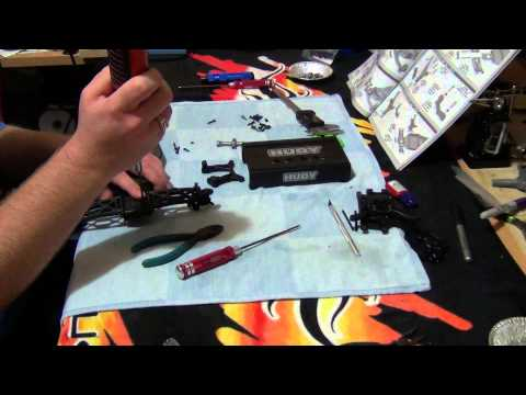 Team Associated B5M build series part 4. Front suspension arms and shock tower