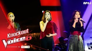 Knock Out : แนช+กอล์ฟฟี่ - หัวใจคนรอ VS เอินเอิน - The Girl in 14G  - The Voice 6 - 21 Jan 2018
