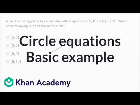Circle Equations — Basic Example | Math | New SAT | Khan Academy