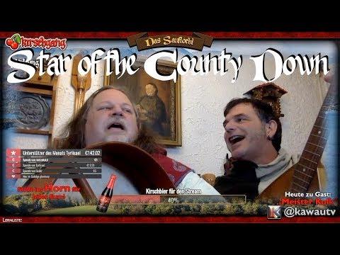 Arnulf und Meister Kolk an einem Sonntag auf Twitch: Star of the County Down