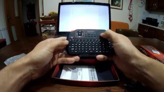 VIBOTON S1 Rechargeable 2.4GHz Wireless Keyboard with Air Mouse