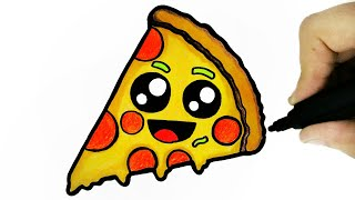 HOW TO DRAW A CUTE PIZZA
