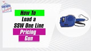 SSW 1-Line Labeler Gun Loading the Gun