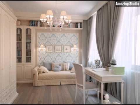 blau tapete taupe braun vorhänge schlafzimmer - youtube - Tapete Blau Schlafzimmer