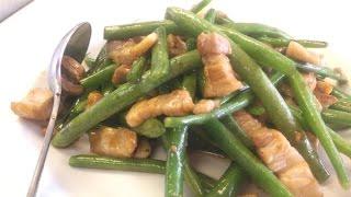Stir Fry Pork Belly With Green Beans