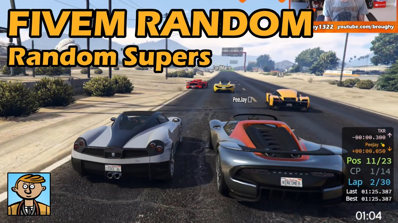 Random Supercars! - GTA FiveM Unique Racing Live #28