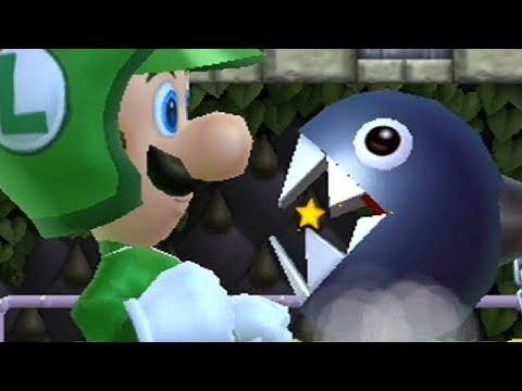 New Super Mario Bros Wii - All Castle Bosses with Giant Luigi