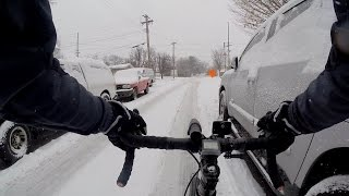 My First Snowy Bicycle Commute To Work Winter 2015 Bike Blogger