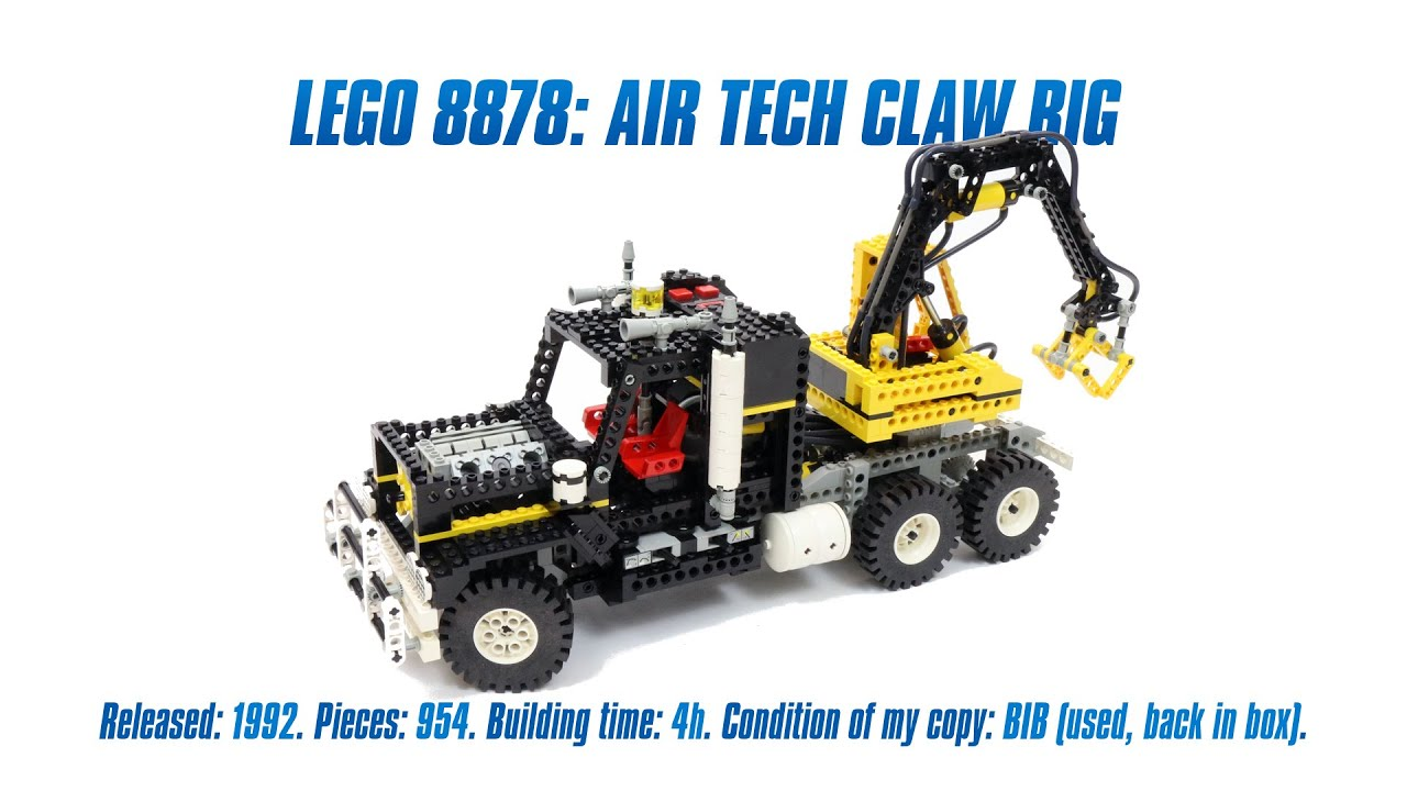 LEGO Classics: 'LEGO Technic 8868: Air Tech Claw Rig' Speed Build & Review  - YouTube