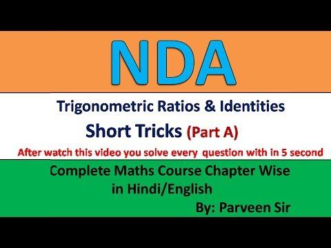 Nda 1 2019 Trigonometric Ratios And Identities Important Questions