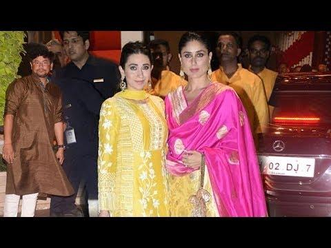 Kareena Kapoor With Sister Karishma Kapoor At Mukesh Ambani's GRAND Ganpati Celebrations 2018