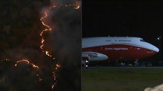 Avión cisterna SuperTanker inicia combate contra incendios en Bolivia | AFP