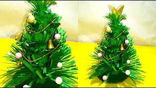 Very Easy way to make Christmas tree with paper-  diy : how to make paper christmas tree-Tuber Tip
