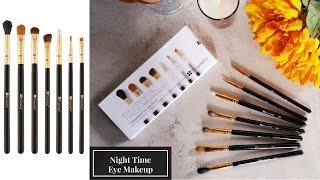 review bh cosmetics eye essential brush set   demo eye makeup tutorial dự tiệc cưới tiệc tối