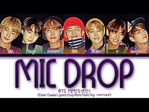 BTS (방탄소년단) - MIC Drop (Steve Aoki Remix) Lyrics (Color Coded Lyrics Eng/Rom/Han) indir