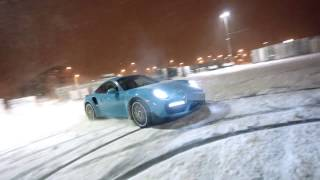 Porsche 911 991.2 - Turbo S - MIAMI BLUE - SNOW & FUN!