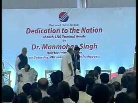 PM Manmohan Singh dedicates to Nation Petronet LNG Terminal; puts Kochi on the world LNG map
