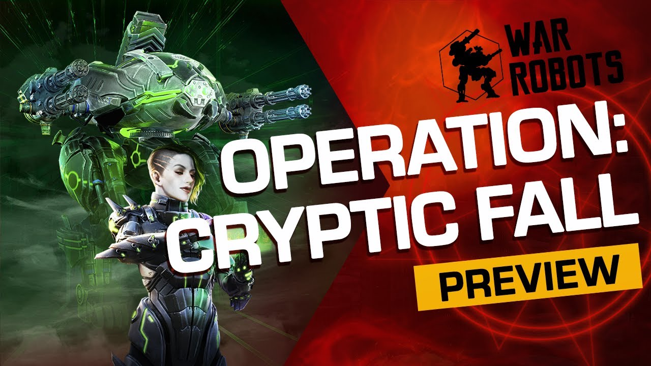 CRYPTIC FALL | War Robots OPERATION 8 (Trailer)