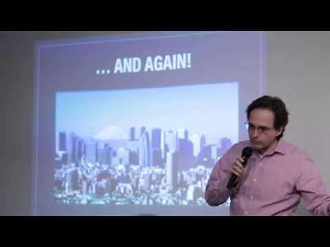 Tim Romero speaking at Tokyo Pioneers, March 28 2015