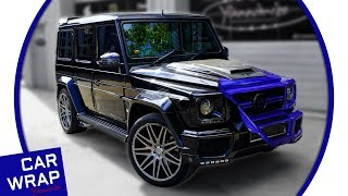 Mercedes G63 Brabus G Wagon Wrapped in Gloss Cosmic Blue