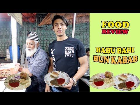 Babu Bahi Bun Kabab Famous Street Food of Pakistan