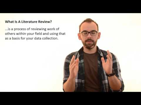 2.1 What Is A Literature Review In Research Thesis