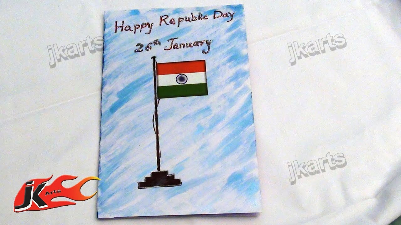 Diy indian republic day greeting card how to make school project diy indian republic day greeting card how to make school project jk arts 124 youtube kristyandbryce Gallery