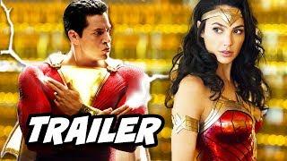 Shazam Trailer 2 - Justice League Wonder Woman Easter Eggs and Jokes Breakdown