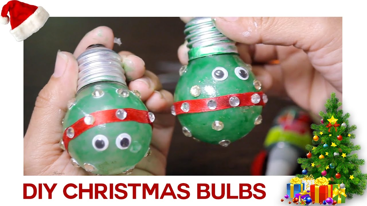 DIY Christmas Bulb || Useful Crafts With Waste Material || Krafts N  Creations   YouTube