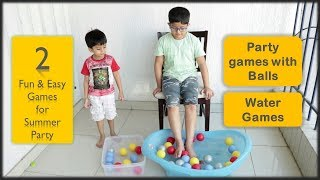 2 One minute games   Party games for summer party for kids and adults   Water ball game