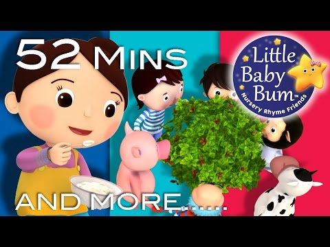 Here We Go Round The Mulberry Bush | Plus More Nursery Rhymes | 52 Mins Compilation by LittleBabyBum