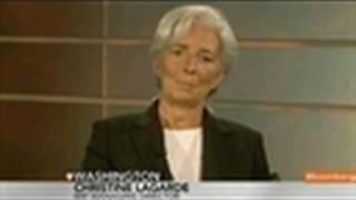 Lagarde Says `Downside Risks' High for Global Economy
