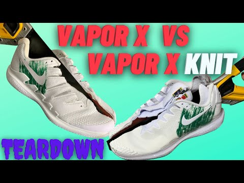 Nike Air Zoom Vapor X VS Nike Air Zoom Vapor X Knit Teardown, Durability Test And Foot Doctor Review