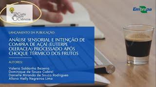 Lançamento da publicação análise sensorial e intenção de compra de açaí após choque térmico