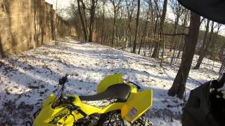 LTR 450 Trail Riding In The Snow