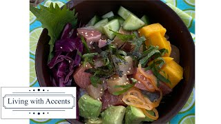【Poke Bowl】This super popular Hawaiian dish can be made at home easily.