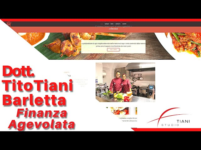COMMERCIALISTA BARLETTA TITO TIANI - FINANZA AGEVOLATA STUDIO TIANI - SE HAI FAME