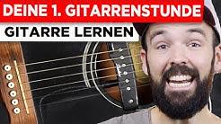 Gitarre lernen für Anfänger - Deine erste Gitarrenstunde - einfach & auf Deutsch