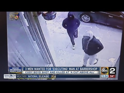3 men wanted for killing man at Baltimore barbershop